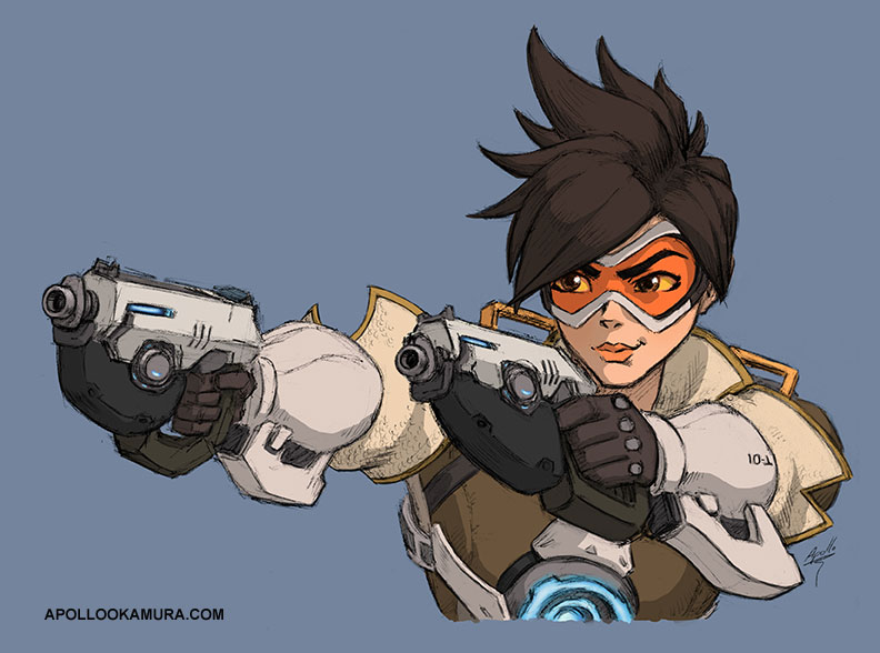 Tracer Coloured Sketch